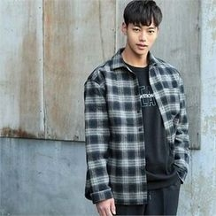 BYMONO - Pocket-Front Plaid Cotton Shirt