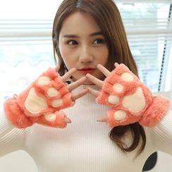 Damasco - Cat Paw Fingerless Gloves