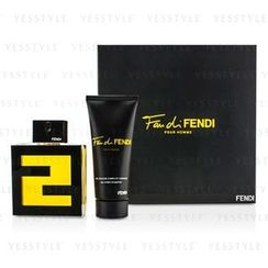 Fendi - Fan Di Fendi Pour Homme Coffret: Eau De Toilette Spray 100ml/3.3oz + All Over Shampoo 100ml/3.3oz