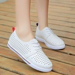 Yoflap - Perforated Lace Up Shoes
