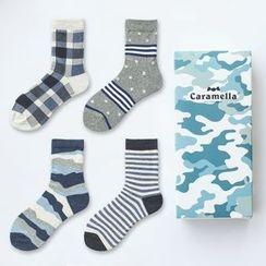 LIFEDIFF - Set of 4: Pattern Socks