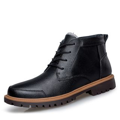 EnllerviiD - Genuine Leather Lace-Up Ankle Boots