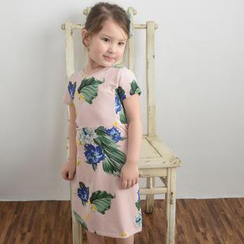 Lemony dudu - Kids Short Sleeved Floral Print Dress