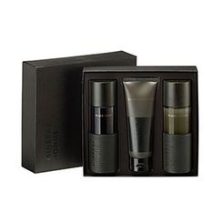 The Saem - Mineral Homme Black Set: Toner 130ml + Emulsion 130ml + Cleansing Foam 100ml