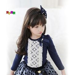 Cuckoo - Kids Bow-accent Long-Sleeve Top