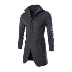 百高 - 纯色拉链大衣