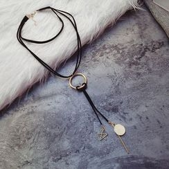 Ticoo - Layered Lariat Necklace