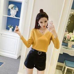 Honeydew - V領針織套衫