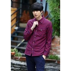 PLAYS - Fleece-Lined Snap-Button Checked Shirt