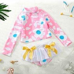 Hokit - 兒童飾結分體泳衣