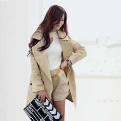 SEYLOS - Double-Breasted Trench Coat