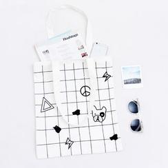 Eastin - Printed Zipped Shopper Bag