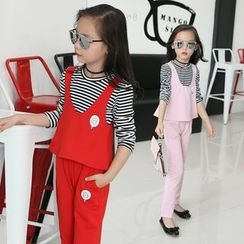 Pegasus - Kids Set: Striped Long Sleeve T-Shirt + Tank Top + Pants