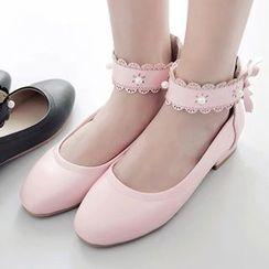 Sidewalk - 蕾絲帶平跟鞋