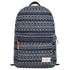 Mr.ace Homme - Geometric-Pattern Canvas Backpack
