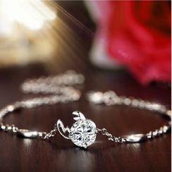 Suu - 星座水鑽純銀垂飾項鏈