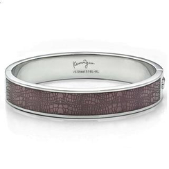 Kenny & co. - Leather Pattern Sculp Bangle(M)