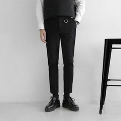 Seoul Homme - Metal-Detail Straight-Cut Pants