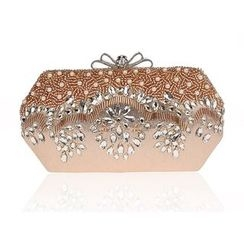 Bling Bag - Embroidered Clipframe Clutch