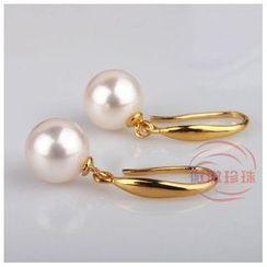 微微珍珠 - 淡水珍珠鈎耳環