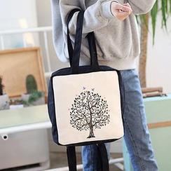 I.O.U - Print Canvas Backpack