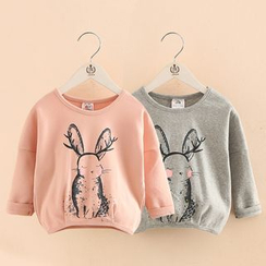 Seashells Kids - Kids Rabbit Print Pullover