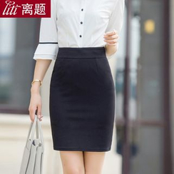 LITI - Plain Pencil Skirt