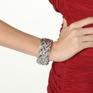 YesStyle Dress - Rhinestone Braided Filigree Bracelet