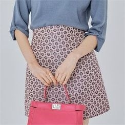 MAGJAY - High-Waist Patterned Skirt