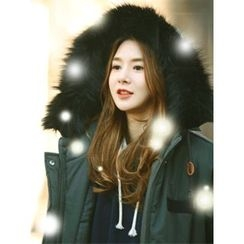 LOLOten - Faux-Fur Hooded Thick Parka