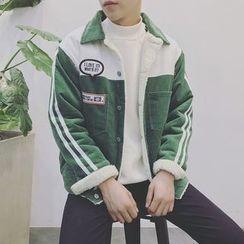 Mr. Wu - Panel Fleece-lined Corduroy Jacket