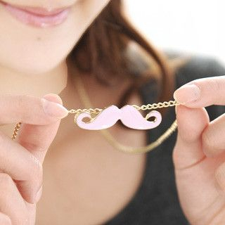 59 Seconds - Mustache Necklace