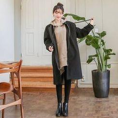 Seoul Fashion - Zip-Detail Zip-Up Coat