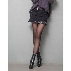 GUMZZI - Inset Shorts Miniskirt