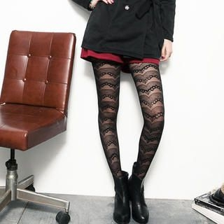 CUTIE FASHION - Printed Sheer Tights