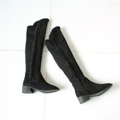 GLAM12 - Fleece-Lined Faux-Suede Boots