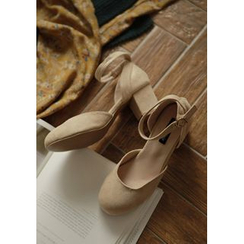 GOROKE - Faux-Suede Mary Jane Pumps