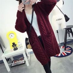 Pecora - Cable Knit Long Cardigan