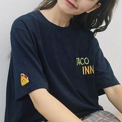 Dute - Embroidered Short-Sleeve T-Shirt