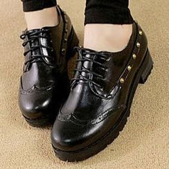 Mancienne - Studded Oxford Flats