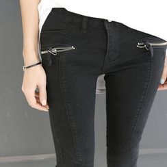 DANI LOVE - Zip-Pocket Skinny Pants