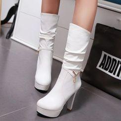 Gizmal Boots - 高跟中靴