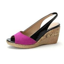 MODELSIS - Two-Tone Wedge Sandals