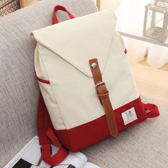 MooMoo Bags - Panel Canvas Backpack