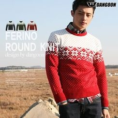 DANGOON - Snow Flake Patterned Knit Top