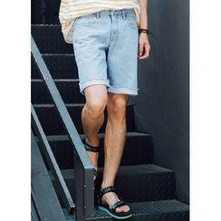 JOGUNSHOP - 水洗牛仔布短褲