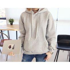 DANI LOVE - Brushed Fleece-Lined Hooded Pullover