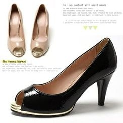 MODELSIS - Wet-Lock Open-Toe Pumps