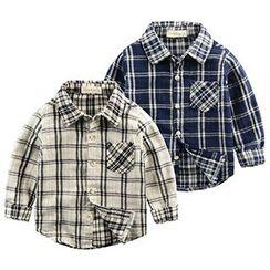 Kido - 小童格紋襯衫