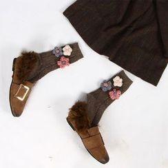 NECTARY - Flower Accent Socks